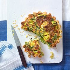 This tart recipe is a tasty update on the classic vegetarian quiche. Feel free to swap gruyère for goat's cheese or vary the vegetables with mushrooms or peppers.