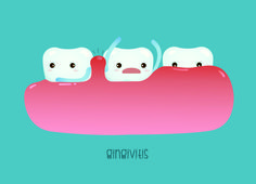 Gingivitis, also called gum disease or periodontal disease, refers to bacterial growth in the mouth. The bacteria can cause gum inflammation and bleeding. As gum disease progresses, debris gets caught in the gums as they pull away from the teeth. This process eventually damages the teeth, leading to tooth loss.