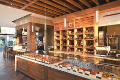 Необычный дизайн кафе-пекарни в индустриальном стиле, Лос-Анджелес