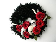 Halloween wreath? Kind of phantom of the opera-esque