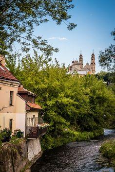 Beautiful view of River Vilnia in Vilnius, Lithuania