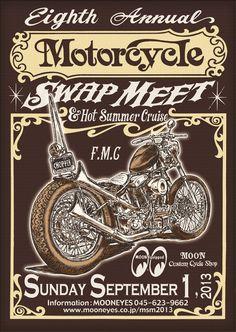 8th Annual Motorcycle Swap Meet & HOT SUMMER CRUISE - MOONEYES ムーンアイズ オフィシャル Moon of Japan MOONTERNET
