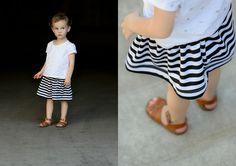 Girls Basic Flexible Waist Skirt - FREE PATTERN! - Delia Creates