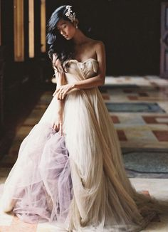 Vestido de la coleccion Tatiana de Samuelle Couture 2016 en Linea A