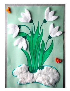 frühling kindergarten You are in the right place about kindergarten art projects easy H Felt Crafts, Easter Crafts, Diy And Crafts, Christmas Crafts, Arts And Crafts, Spring Activities, Craft Activities, Preschool Crafts, Spring Crafts For Kids