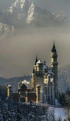 Castle of Neuschwanstein, Baviera, Germany. Places To Travel, Places To See, Travel Destinations, Beautiful Castles, Beautiful Places, Places Around The World, Around The Worlds, Photo Chateau, Neuschwanstein Castle