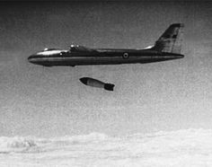 thevaultoftheatomicspaceage: a RAF Vickers Valiant bomber, dropped a Atom Bomb at the Maralinga Test Range, South Australia. Air Force Aircraft, Navy Aircraft, Ww2 Aircraft, Military Jets, Military Aircraft, Vickers Valiant, V Force, Avro Vulcan, Delta Wing