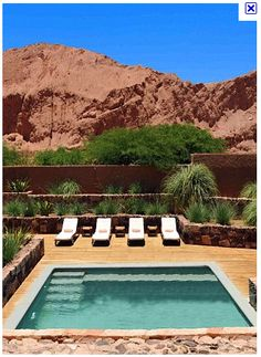 Small Pool shapes/ideas This Has To Be Sedona Ariz the Rocks are so Red Spas, Outdoor Spaces, Outdoor Living, Square Pool, Rectangle Pool, Pool Shapes, Mini Pool, Small Pools, Plunge Pool