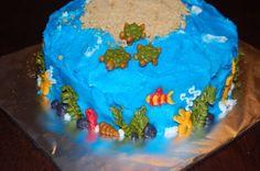 Under the Sea 1st Birthday Cake