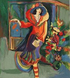 Absolutely love everything about this! It would be a beautiful addition to my home!  Women in Painting by Israeli Artist Isaac Maimon