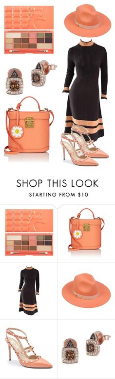 """ & "" by subvilli on Polyvore featuring Mark Cross, Lack of Color, Valentino, LeVian, peach, chocolate and contestentry"