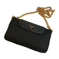 1d5775a07b8b SALE PRICE -  950 - Prada Women s Black Tessuto Saffian Nylon Crossbody  1BH085 Prada Handbags