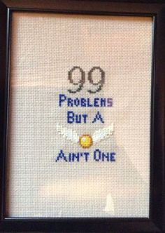 Sister-in-law made another cross-stitch. Harry Potter fans will enjoy this one. - Imgur