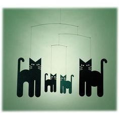 Black Cats Mobile by Flensted Mobiles at BabyEarth.com, $24.75  I am going to make my own.