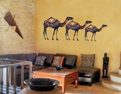 Bejeweled camel wall art from Wall Spirit
