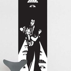Mural ATADesigns Dancing Couple – Art Deco Mural czarno -biały z tancerzami z epoki.