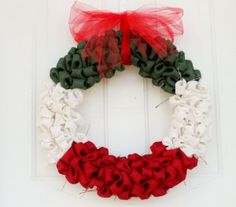 Just Sew Sassy:  Holiday Burlap Bubble Wreath tutorial