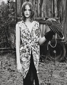 Sara Blomqvist in Twin Magazine by Ben Thomas