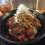 ステーキ食堂 BECO - 国産牛ロースステーキ丼ダブル(2016/9)