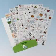 6 Sheets/Set Korea Super Kawaii Rabbit Q Pet Decorative Planner Stickers Diary Sticky Notes-in Memo Pads from Office & School Supplies on Aliexpress.com   Alibaba Group