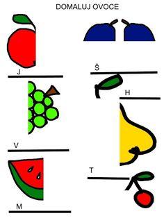 Pro Šíšu: Zahrada Kids Math Worksheets, Free Printable Worksheets, Free Printables, Paper Crafts Origami, Math For Kids, Child Development, Symbols, Letters, Kids Learning Activities