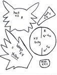 Zapdos plush pattern 1 by ~Kurosakou on deviantART