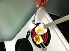 Roasting marshmallows over an electric burner? Yup! For when the summer rains mean no bonfire, bring the fun indoors.