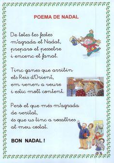 Poema M'AGRADA EL NADAL My First Christmas, Winter Christmas, Christmas Time, Christmas Tree Ornaments, Christmas Crafts, Motivational Phrases, Conte, Valencia, Education