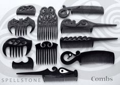 COMBS: Hand crafted of Black Water Buffalo Horn