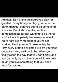 there will be a day when we wish we had the opportunity to run those extra 10 sprints.