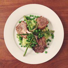 Pea and asparagus mash potato