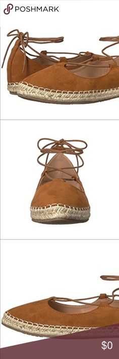 🆕 Lace Up Ballet Style Loafers Shoes Sandals New in Box Esprit designed. When someone ask, where do you get your style from, give them a Wink! A beautiful staple. Elegant lace up with a sisal sole Espadrille look with fairy Toe finish. Man-made upper. Slip-on, lace-up closure, Pointed-toe. Synthetic lining Lightly padded footbed. Rubber outsole. Product measurements were taken using size 7.5, width M.  Measurements: Weight: 6 oz or 12 oz pair wear with a dress, shorts, culottes capris cargo…