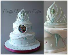 Frozen Cake with Elsa's Crown by Crafty Mummy's Cakes -  https://www.facebook.com/CraftyMummysCakes