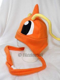Pokemon Inspired Dragonite Fleece Hat MADE TO ORDER por Higginstuff