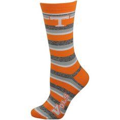 Tennessee Volunteers Ladies Tennessee Orange Striped Crew Socks #Fanatics