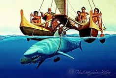Herb Kane-Kamehameha loved to be pulled by sharks..for fun!