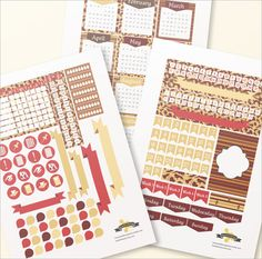 Gryffindor bullet journal stickers package A4 by BumbleBeasy