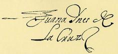 Firma de Sor Juana