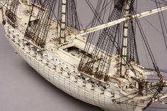 Napoleonic Prisoner of War Bone Model of a 78 Gun Ship (Anglo French)