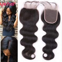 74.00$  Buy now - http://ali8h3.worldwells.pw/go.php?t=32657059895 - 6A Virgin Peruvian Lace Closure Body Wave Free Middle Part Human Hair Closure Peruvian Body Wave Lace Closure Bleached Knots