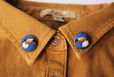 Image of Toucan Birds Collar Pins/ Earrings // Hand Embroidery by İrem Yazıcı