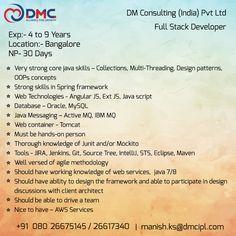 Ext Js, Oops Concepts, Spring Framework, Multi Threading, Web Technology, Job Posting, Pattern Design, Wedding Ring