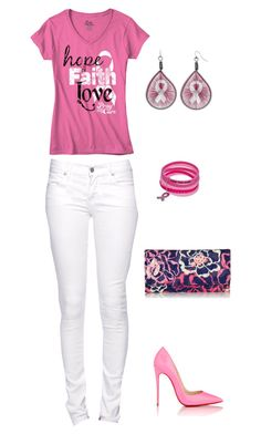 """Untitled #399"" by netteskytte on Polyvore featuring Christian Louboutin, Citizen of Humanity and Vera Bradley"