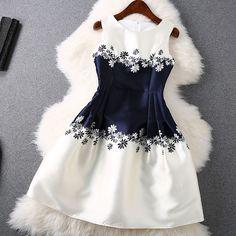 Unique Round Neck Sleeveless Dress by elise Unique Dresses, Pretty Dresses, Cute Fashion, Kids Fashion, Steampunk Fashion, Gothic Fashion, Fashion Fashion, Little Girl Dresses, Girls Dresses