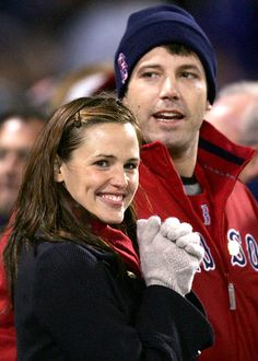 Ben Affleck and Jennifer Garner made their first public appearance as a couple at the Boston Red Sox's opening World Series game.