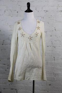 Coop Barneys New York Women's Beige 100% Cashmere Tunic Sweater M #CoopBarneysNewYork #Tunic