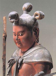 運慶(Unkei) : 八大童子像(Hachidai Dojizo) : 制多伽童子 (Seitaka-Doji)