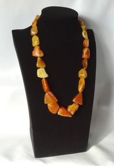Beautiful Vintage Necklace from Natural Baltic Amber. Weight ~ 47.94 g. Perfect color & condition! Old patina. 老琥珀 #ET0202 PRICE EUR 299.00