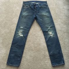 Ralph Lauren Distressed Jeans Men Denim & Supply Ralph Lauren Distressed Jeans. Slim fit, button fly. Like new, only worn once. Size 30/30. Ralph Lauren Jeans Slim