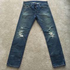 Ralph Lauren Distressed Jeans Men Denim & Supply Ralph Lauren Distressed Jeans. Slim fit, button fly. Like new, only worn once. Size 30/30. Ralph Lauren Jeans Slim